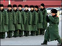 People's Liberation Army soldiers in Beijing