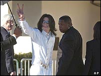 Michael Jackson arrives in court