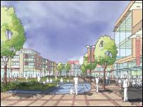 Architect's drawing of regeneration plans