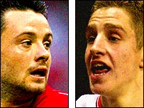 Andy Reid (left) and Michael Dawson