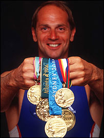 Sir Steve Redgrave won gold at five Olympic Games