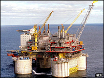 Plataforma petrolera noruega.