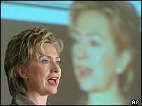 Sen Hillary Rodham Clinton at a conference in Washington last week