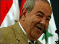 Iraqi interim Prime Minister Iyad Allawi