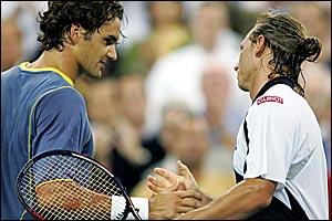 Roger Federer and David Nalbandian