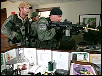 Special response team in New Orleans building