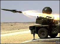 launched missile
