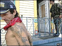 Man leaves his home in New Orleans