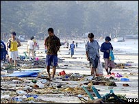 Patong Beach, Phuket, the day after the Tsunami