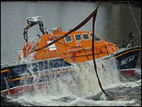 Tamar class lifeboat. Picture courtesy of RNLI