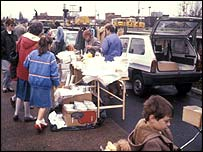 Image of a car boot sale