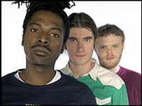 Ras Kwame (left), Rob Da Bank (centre) and Huw Stephens