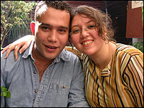 Lilian Wagdy with her boyfriend Yasser