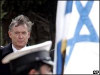 El presidente alemán,  Horst Koehler, de visita en Israel