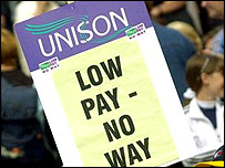 Unison pensions protest