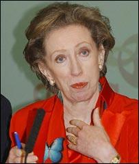 Margaret Beckett in Exeter (PA)