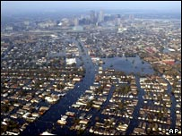 A flooded New Orleans