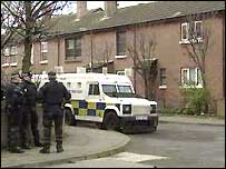 A search linked to the murder took place in Short Strand on Tuesday
