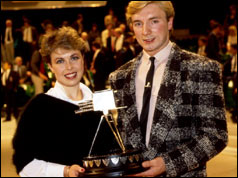 Jayne Torvill and Christopher Dean in 1984