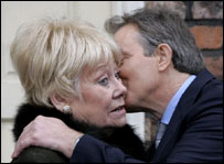 Liz Dawn and Tony Blair