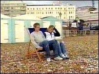 Couple in a deckchair