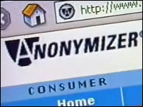 Anonymizer website