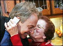 Tony Blair and Brenda Healey
