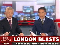 News 24 London bombings coverage