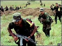 Farc rebels train in southern Colombia (file)
