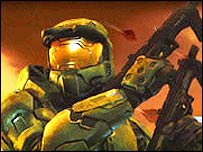 Screenshot from hit Xbox game Halo 2