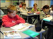 school classroom in Finland