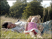 A father and daughter on Hampstead Heath