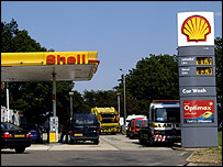 A Shell petrol station