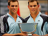 American twins Mike and Bob Bryan