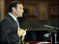 Basque regional president Juan Jose Ibarretxe