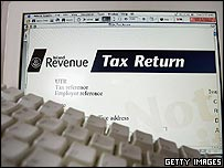 Tax form on computer
