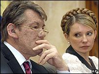 President Yushchenko with Yulia Tymoshenko