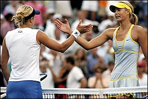 Kim Clijsters and Maria Sharapova