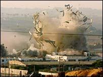 Взрыв блок-поста в секторе Газа
