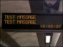 Station sign spelling mistake