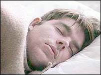 Image of a man sleeping