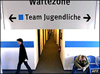 German job centre waiting room