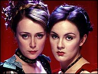 Keeley Hawes and Rachael Stirling in the BBC adaptation of Tipping The Velvet