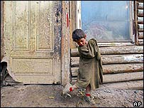 Roma child, Slovakia