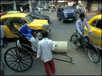 Street scene in Calcutta, BBC