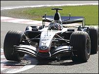 McLaren driver Juan Pablo Montoya