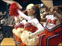 US cheerleaders