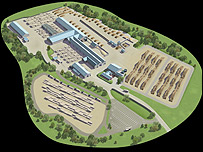 An artist's impression of the BSW plant