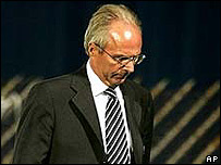 Sven Goran Eriksson, director t�cnico de Inglaterra