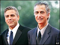 George Clooney and David Strathairn